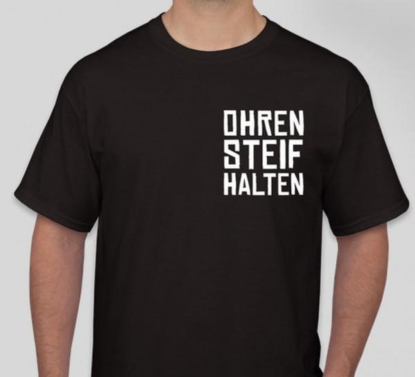 """T-Shirt """"Ohren steif halten"""" schwarz"""